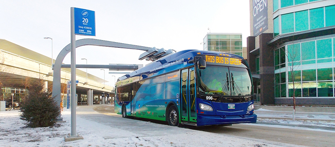 Den kanadensiska storstaden Winnipeg planerar att helt gå över till elbussar. Foto: Winnipeg Transit.