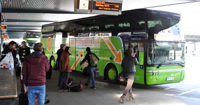 Resandet i den avreglerade långväga busstrafiken i Tyskland ökar snabbt. Största aktör på marknaden är Mein Fernbus. Foto: Ulo Maasing.