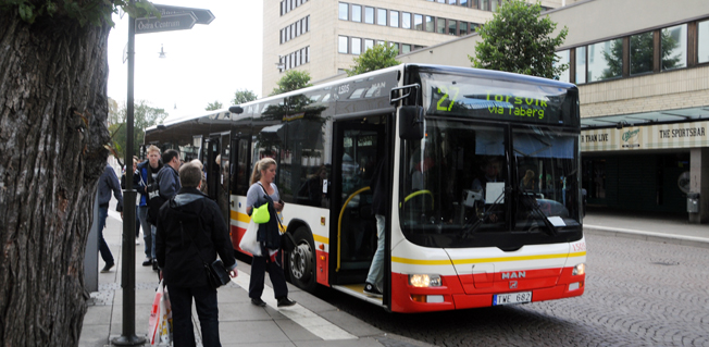 Resandet med kollektivtrafiken i Jönköpings län har ökat kraftigt under 2015. Fotyo: Ulo Maasing.