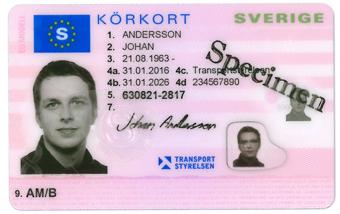 Körkorten får ett nyt utseende…
