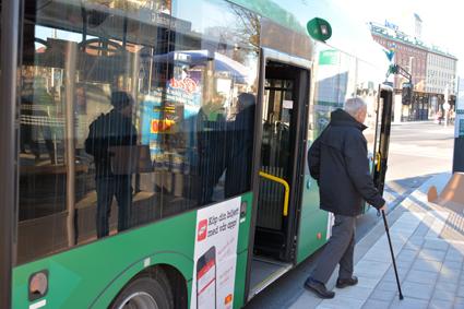 Bussresandet i Kristianstad ökade med åtta procent förra året. Foto: Kristianstads kommun.