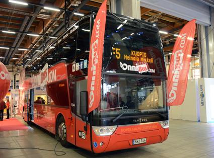 Expressbussföretaget Onnibus, ägd av Stagecoachgrundaren Brian Souter, fanns på plats på Matka. Foto: Ulo Maasing.