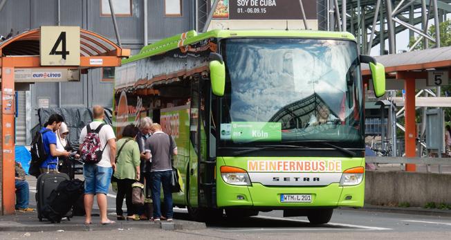 Bara två år efter marknadsöppningen reser fler med expressbuss än med inrikesflyg i Tyskland. MeinFernbus/Flixbus är överlägset störst på marknaden. Foto: Ulo Maasing.