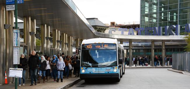 Umeåföretaget Fältcom ska göra informationen vättre för bussresenärer i New York. Foto: Ulo Maasing.
