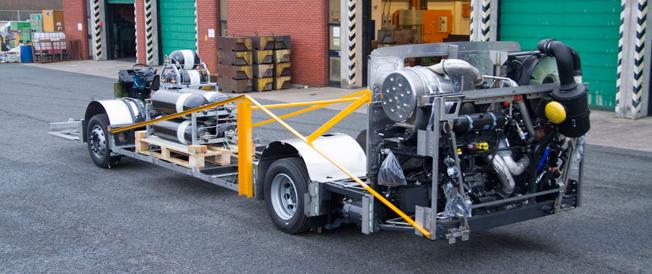 Scania har producerat vad man hävdar är världens första euro 6-chassi för dubbeldäckare. Bild: Scania.
