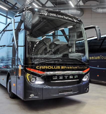 Setra har nu levererat 5000 bussar i TopClassfamiljen. Foto: Daimler Buses.