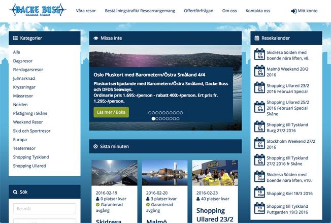 DackeBuss är enligt egen uppgift första svenska bussresearrangör som erbjuder betallösningar via Klarna.