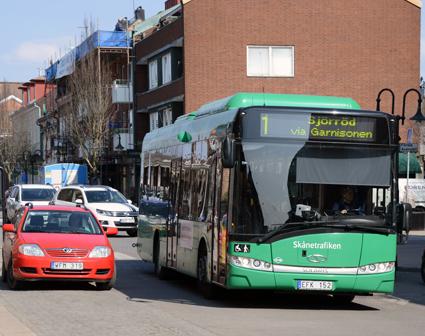 Hälften av alla resor med Skånetrafiken görs med stadsbussarna i de skånska städerna. Bussresandet i Hässleholm ökade mest i hela Skåne i fjol, 14,3 procent. Foto: Ulo Maasing.