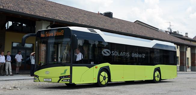 Nya Solaris Urbino 12. På torsdagen belv det klart att den polska staden Krakow beställer 60 bussar av modellen. Foto: Ulo Maasing.