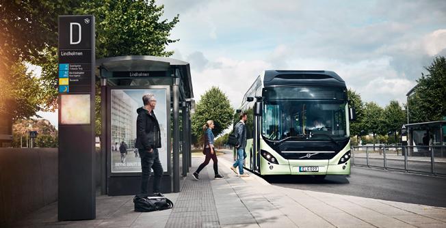 Den belgiska staden Namur investerar i Volvos elbussystem. Foto: Volvo Bussar.
