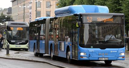 Linjerna 52 och 55 i Göteborg tillhör de linjer som stoppades på tisdagsmorgonen. Arkivbild: Ulo Maasing.
