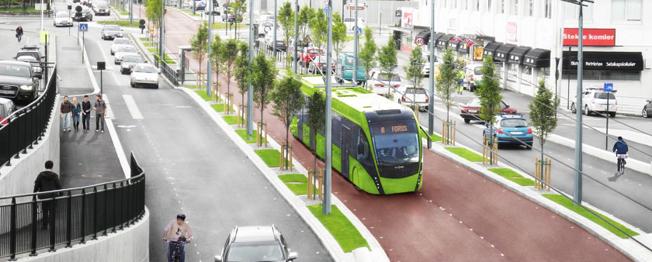 Så blir det inte. Superbusslinjen i Stavanger ska förverkligas, men inte trafikeras med trådbussar som det tidigare var tänkt. Bild: Rogaland Fylkeskommune.