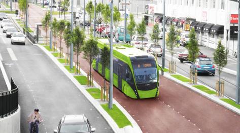 Om den blivande superbusslinjen i Stavanger ska trafikeras med trådbussar riskerar man att bli utan statligt investeringsstöd. Bild: Rogaland fylkeskommune.