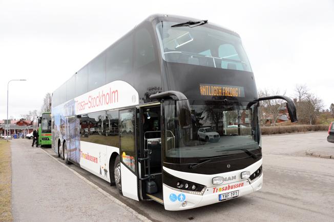 Dubbeldäckaren från MAN/Unvi är unik och särskilt framtagen för trafik i Sverige. Svenska Neoplan har siktet inställt på marknaden för dubbeldäckare i regionaltrafik och expressbusstrafik. Foto: Ulo Maasing.