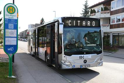 Mercedes-Benz´ stadsbuss Citaro kommer 2018 att lanseras på marknaden både som batteribuss och som bränslecellsbuss. Foto: Daimler Buses.