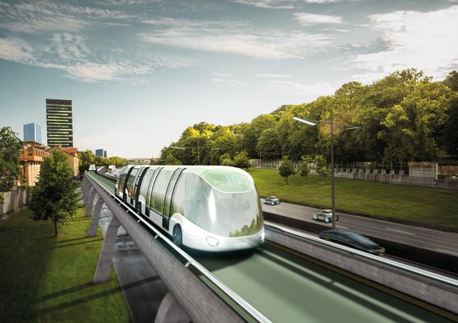 Förslaget skissar bland annat på busslinjer på särskilda vägar över annan trafik. Bild: Västra Götalandsregionen.