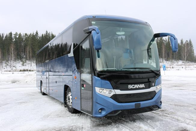 De första Interlink HD har nu rullat ut från Scanias fabrik i finska Lahti. Foto:Scania.