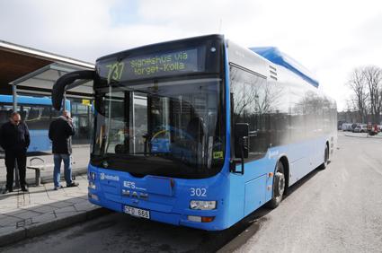 I Kungsbacka ökade resandet med 20 procent förra året. Huvuddelen av busstraifiken i Kungsbacka körs av KE´s Bussar. Foto: Ulo Maasing.