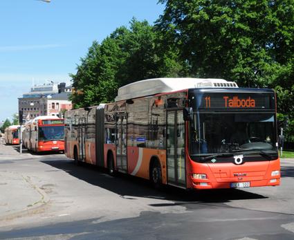 I Linköping ökade bussresandet med fyra procent i fjol. Foto: Ulo Maasing.