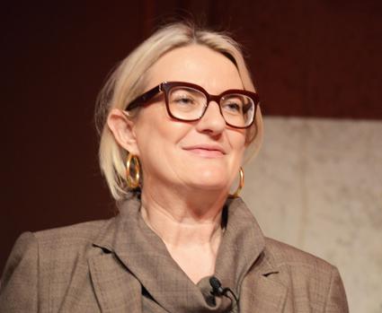 """Petra Hedorfer, chef för det tyska turistrådet, DZT kunde konstatera att Tyskland har haft sex rekordår i rad när det gäller turism. """"Men det finns orosmoln och utmaningar"""", sa hon på ITB:s öppningsdag. Foto: Ulo Maasing."""