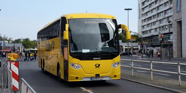 Den långväga busstrafiken i Tyskland har vuxit kraftigt med hård konkurrens och prispress som följd. Samtidigt har andelen föarre som bryter mot kör- och vilotidsreglerna ökat kraftigt. Bussen på bilden har inget direkt samband med den bristande regelefterlevnaden. Foto: Ulo Maasing.
