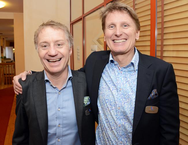 Två av Rese-Konsulternas ägare, Fredrik Helgesson och Göran Grell.