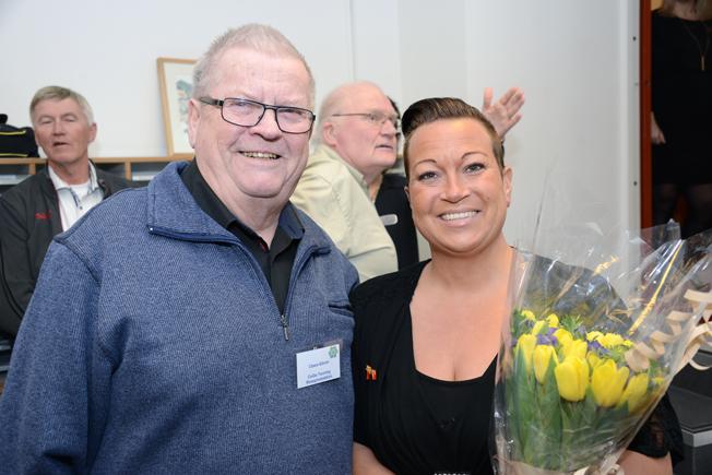 Claes-Göran Eckert, Cege Touring är en veteran i bussresebranschen. Här tillsammans med Cecilia Jonsson, Rese-Konsulterna.