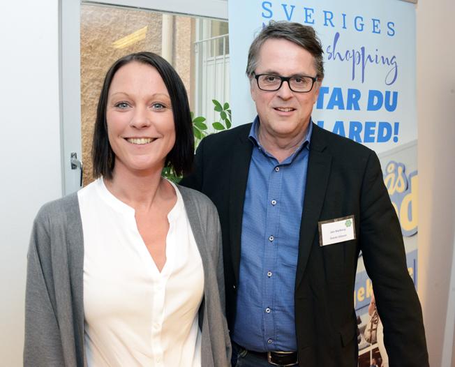 Jan Wallberg, koncernchef för Gekås i Ullared tillsammans med sin vd-assistent Caroline Grenvi.