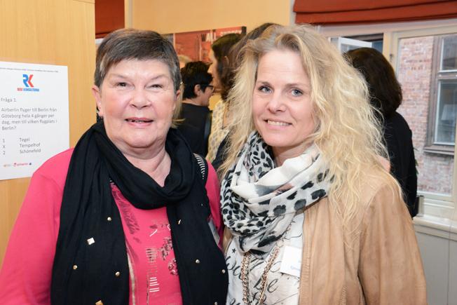 Välkänd RK-profil, numera senioren Gunilla Nyberg tillsammans med Ingela Nilsson från Tjörnarpsbuss.