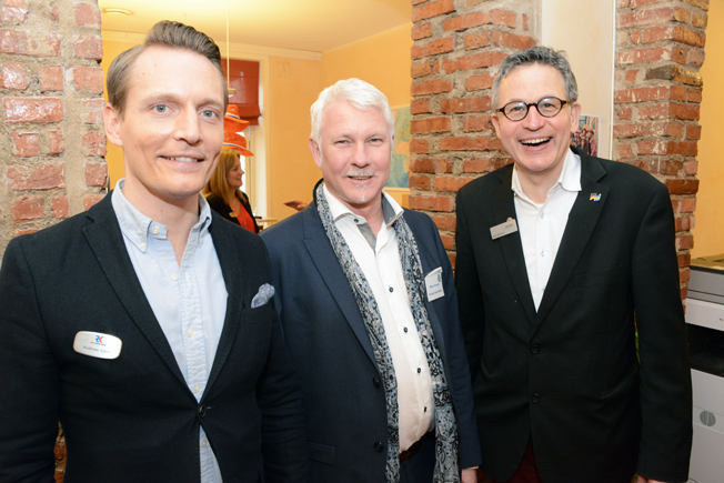Rese-Konsulternas Anders Hjelm tillsammans med Mikael Persson, Sveriges Bussföretag och Uwe Meistner, Tyska Turistbyrån.