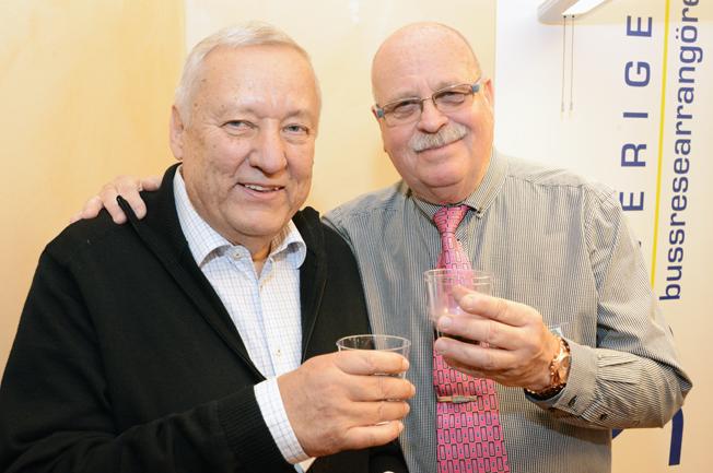 Toni Schönfelder och Erland Olsson, Sveriges Bussresearrangörer.