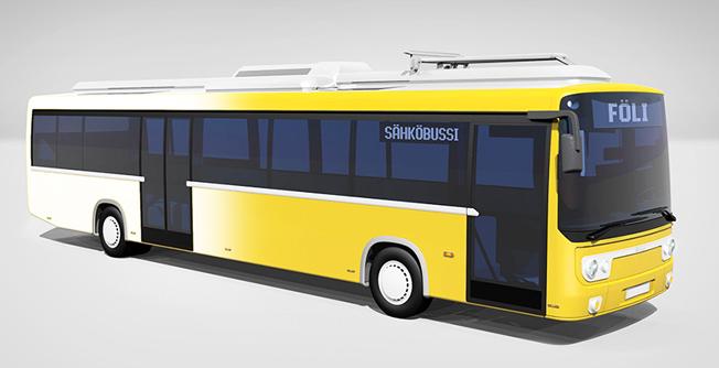 Så kommer Åbos framtida elbussar från finska Linkker att se ut. Finlands näst största stad satsar nu på en elektrifiering av busstrafiken. Bild: Åbo stad.