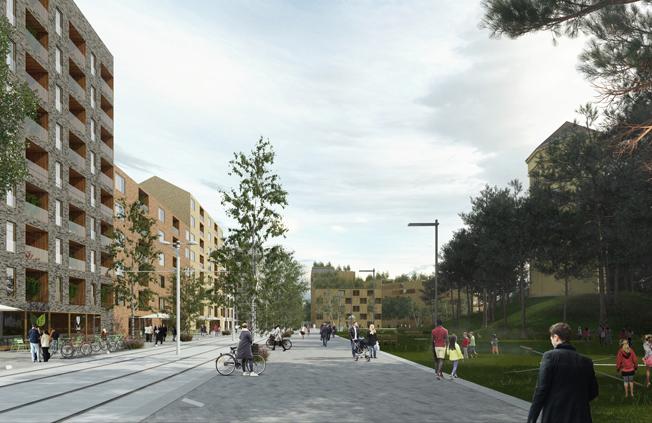 I Ulleråker planerar Uppsala bygga 7000 bostäder. Nu vill man ha statlig medfinansiering till investeringar i kollektivtrafiken. Bild: Uppsala kommun.