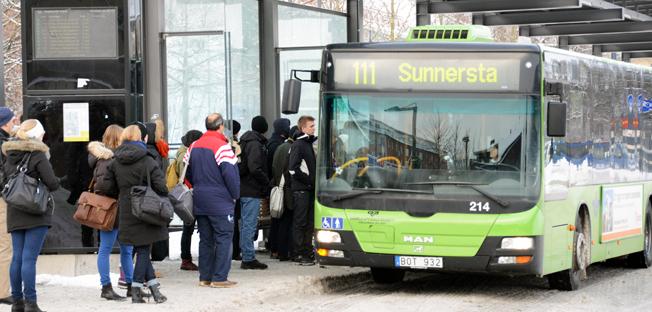 Nästa år ska Uppsala få ett nytt linjenät för stadsbussarna. Frågan har engagerat Uppsalaborna starkt. Foto: Ulo Maasing.