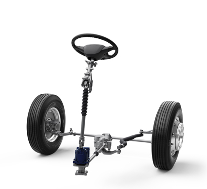 VDS finns för såväl fordon med individuell framhjulsupphängning eller, som på bilden, stel framhjulsupphängning. Foto: Volvo.