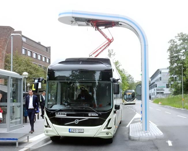 ElectriCityprojektet i Göteborg är ett utvecklingsprojekt med elbussar som bas. Foto: Ulo Maasing.
