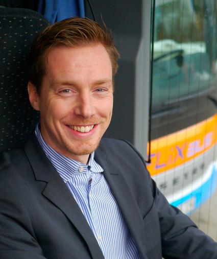 André Schwämmlein är en av grundarna av expressbussjätten FlixBus och företagets vd sedan 2011. Foto: FlixBus.