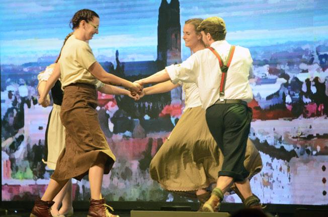 Invigningsshowen på årets GTM präglades av mycket musik och dans…