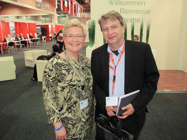 Camilla Swanér, Arcona Hotels & Resorts tillsammans med Citadellresors Jonas Melin.