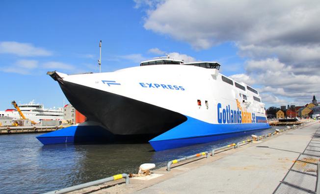 På torsdagen inleder Gotlandsbåten sin trafik mellan Gotland och fastlandet med HSC Express. Foto: Gotlandsbåten.