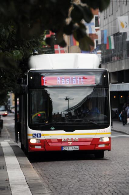 Jönköping vill uppgradera stombusslinje 1 till BRT-line, eventuellt trafikerad med trådbussar. Foto: Ulo MAasing.