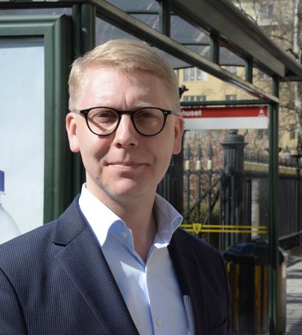 Kristoffer Tamsons(M), trafiklandstingsråd i Stockholms län: Vi bötfällde i fjol 80 procent fler fuskåkare. Foto: Ulo Maasing.
