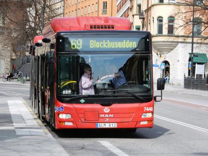 En av Keolis biogasbussar i Stockholm. Foto: Ulo Maasing.