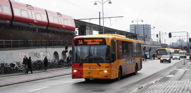 Rån och överfall av bussförare har minskat kraftigt i Köpenhamnsområdet – trots att kontanthanteringen finns k ar. Foto: Ulo Maasing.