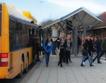 Skånetrafiken har beställt bildskärmar och mjukvara till 81 nya bussar. Bild: Skånetrafiken.
