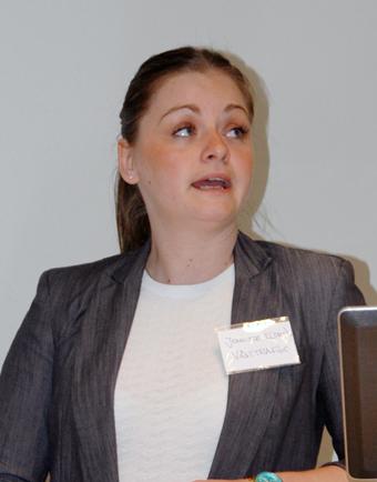 Jennifer Elsrén är projektledare på Västtrafik för ElectriCity.