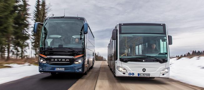 Daimler Buses, med Mercedes-Benz och Setra, blev största busstillverkare på den svenska marknaden under mars i år. Foto: Daimler Buses.