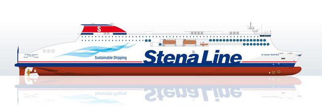 Stena har beställt fyra nya färjor för trafik i norra Europa. Bild: Stena.