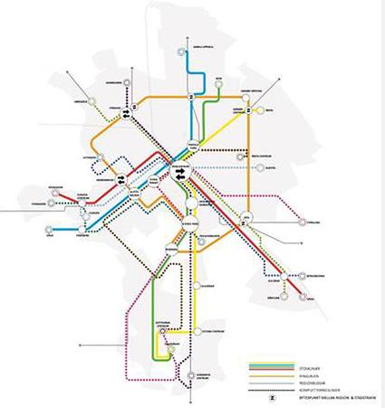 Så ska Uppsalas nya linjenät se ut. En detaljerad karta över linjenätet finns här.