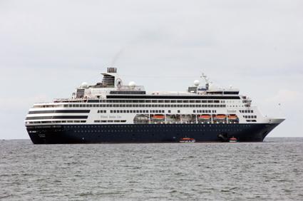 När den nya kryssningskajen i Visby står klar 2018 slipper kryssningsfartygen ankra på redden. Foto: Ulo Maasing.